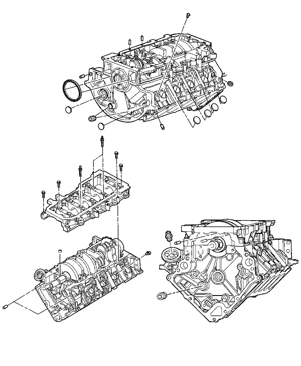 Dodge Ram Engine Cylinder Block And Hardware 4 7l Eve