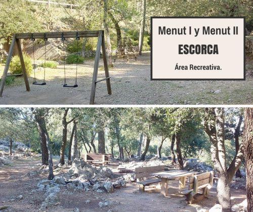AREA RECREATIVA MENUT I Y  MENUT II (ESCORCA)