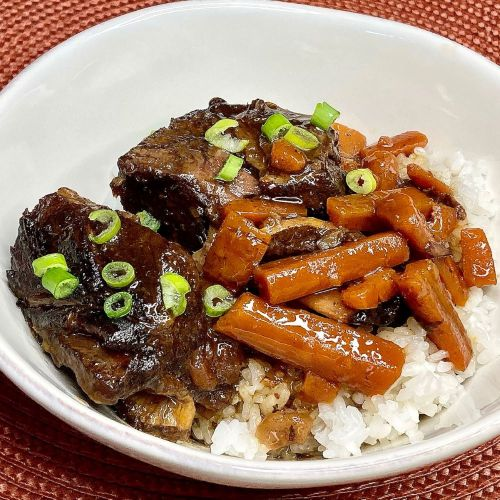 Slow-Cooker Asian Short Ribs over Sticky Rice