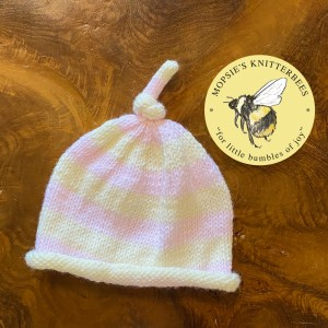 Strawberry Cream Baby Hat
