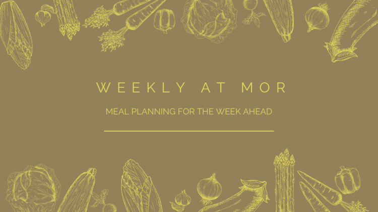 Introductory image for Weekly at Mor dinner planning feature