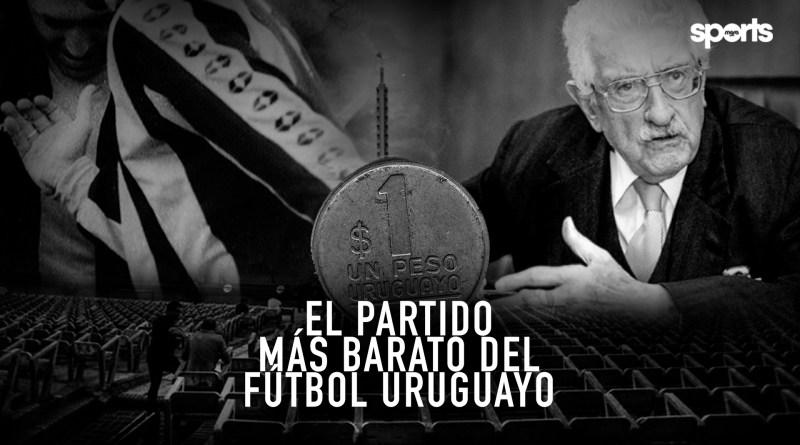 El partido más barato del fútbol Uruguayo