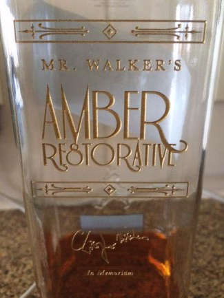 Mr. Walker's Amber Restorative (what Hitchens affectionately called his favorite whisky)