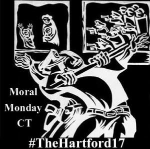 Moral Monday Logo invert The Hartford 17