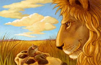 The Lion and The Mouse Short Story - Lion and Rabbit Story Englsh