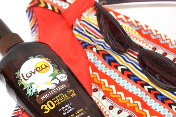 Lovea : Huile sèche qui m'a accompagné sous le soleil