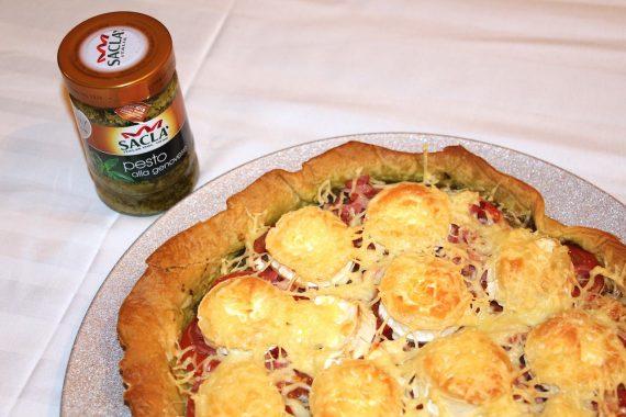 Recette #2: Tarte Pesto Tomate avec Sacla