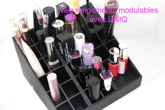 Mes rangements make-up avec UNIQ