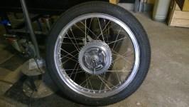 Ruota posteriore completamente restaurata - Rear wheel completely restored