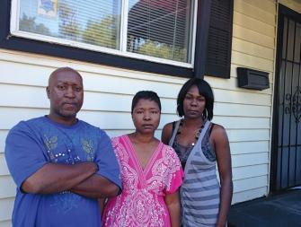 Paramount victims Steve Bynum, Kim Pierce, Dana Hill-photo by Steve Babson