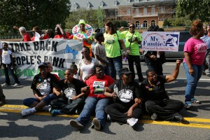 Homeowners protest in front of Fannie Mae Headquarters, 9-27-2012