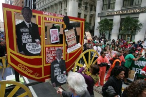 Protest against Wells Fargo Bank in San Franscisco, April 24, 2012. Photo-Mike Koozmin, SF Examiner