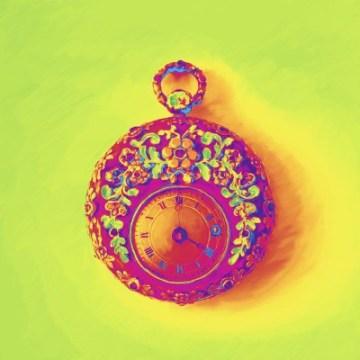 Rijk Floral Pocket Watch