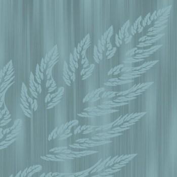 Bear Run Blue Fractal Leaf Print