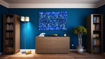 Blue Splash Print