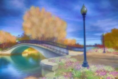 Romance at Elizabeth Park Bridge