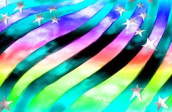 US Rainbow Flag