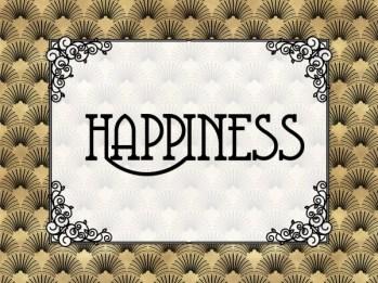 Happiness - Art Deco Style