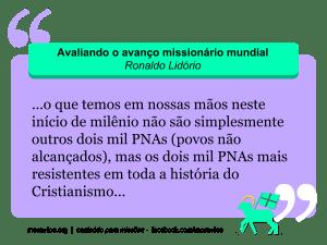 O avanço missionário, por Ronaldo Lidório