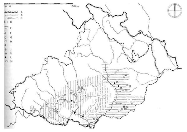 Osídlení Moravy lidem jevišovické kultury, bošácké kulturní skupiny a skupiny Kosihy-Čaka.