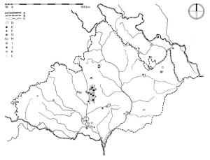 Rozšíření magdalénienu, pozdního paleolitu a mezolitu.