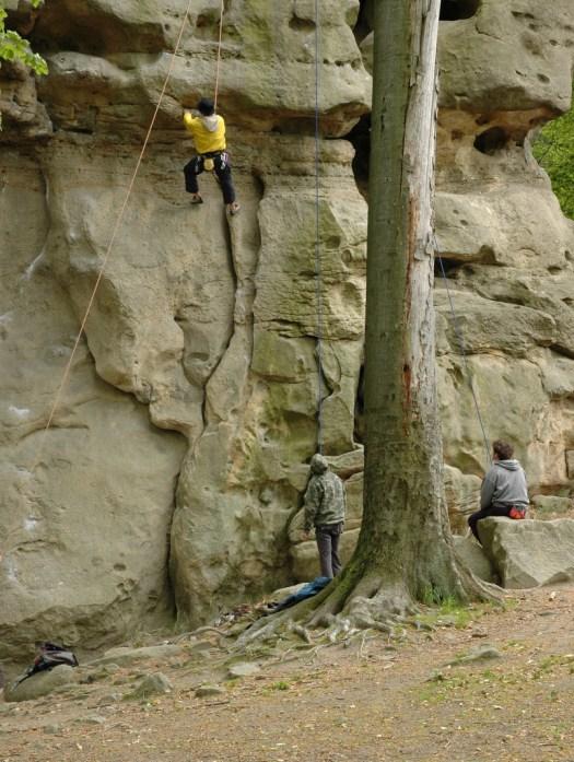 Přírodní památka Kozel je zároveň vyhledávanou lezeckou trasou.