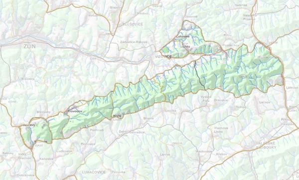 Geomorfologické rozdělení Komonecké hornatiny.