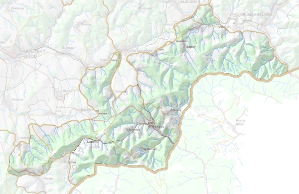 Geomorfologické rozdělení Lopenické hornatiny.