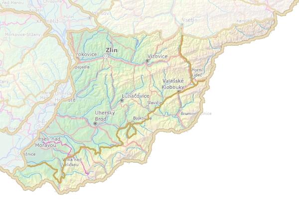 Geomorfologické rozdělení Slovensko–moravských Karpat.