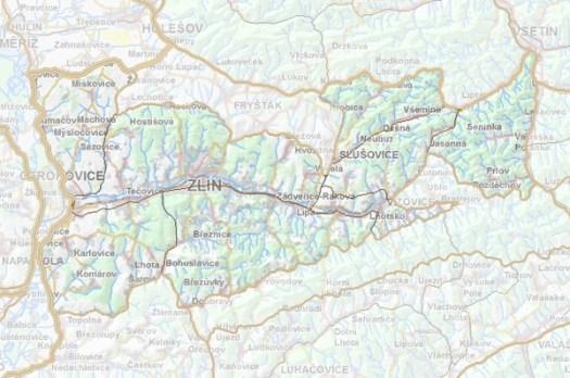 Geomorfologické rozdělení Zlínské vrchoviny.