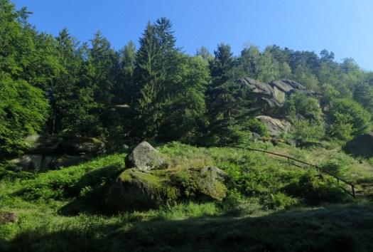 Spodní část Zámčiska v Pulčínských skálách.