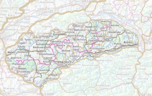 Geomorfologické rozdělení Kelčské pahorkatiny.