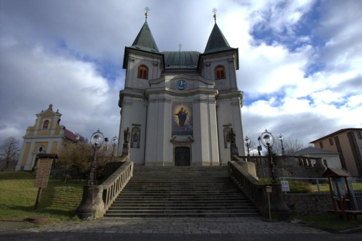 Bazilika Nanebevzetí Panny Marie na Svatém Hostýně.