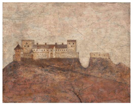 Vyobrazení hradu z 2. pol. 17. století na kopii z 19. století. Muzeum Novojičínska, i. č. U 357