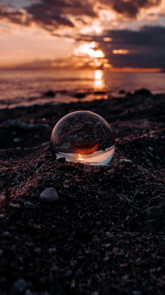 اجمل خلفيات ايفون خلفيات غروب الشمس في البحر