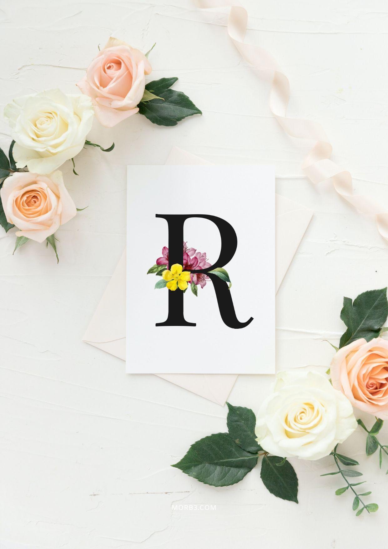 خلفيات جميلة جدا حرف R