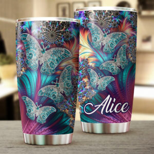 Butterfly Art Personalized Stainless Steel Tumbler