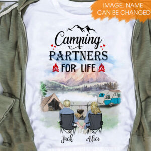 Camping Couple Personalized Shirt