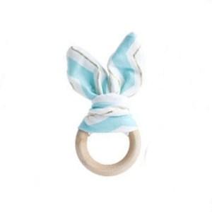 Mordedor Rabbit blue gold de Mordisquitos