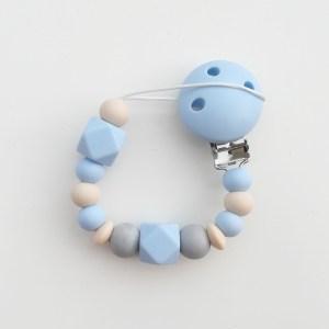 Chupetero baby blue de silicona de Mordisquitos