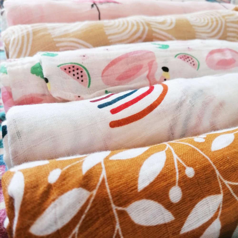 Muselina 100% algodón bambú mordisquitos blanket muslim muselina bebé