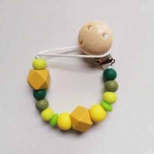 Chupetero de silicona para bebés urban green mordisquitos
