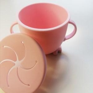 Portasnacks de silicona para llevar la merienda taza suave niños y bebés
