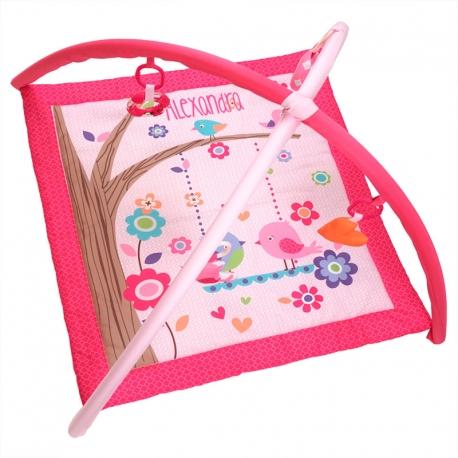 Gimnasio de actividades personalizado bordado con el nombre del bebé