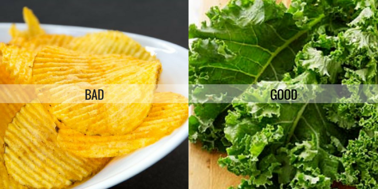 food is not good or bad