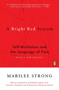 Bright red scream book