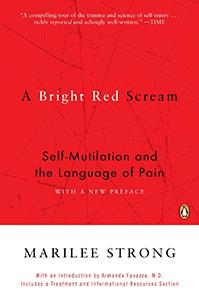 Bright red scream book
