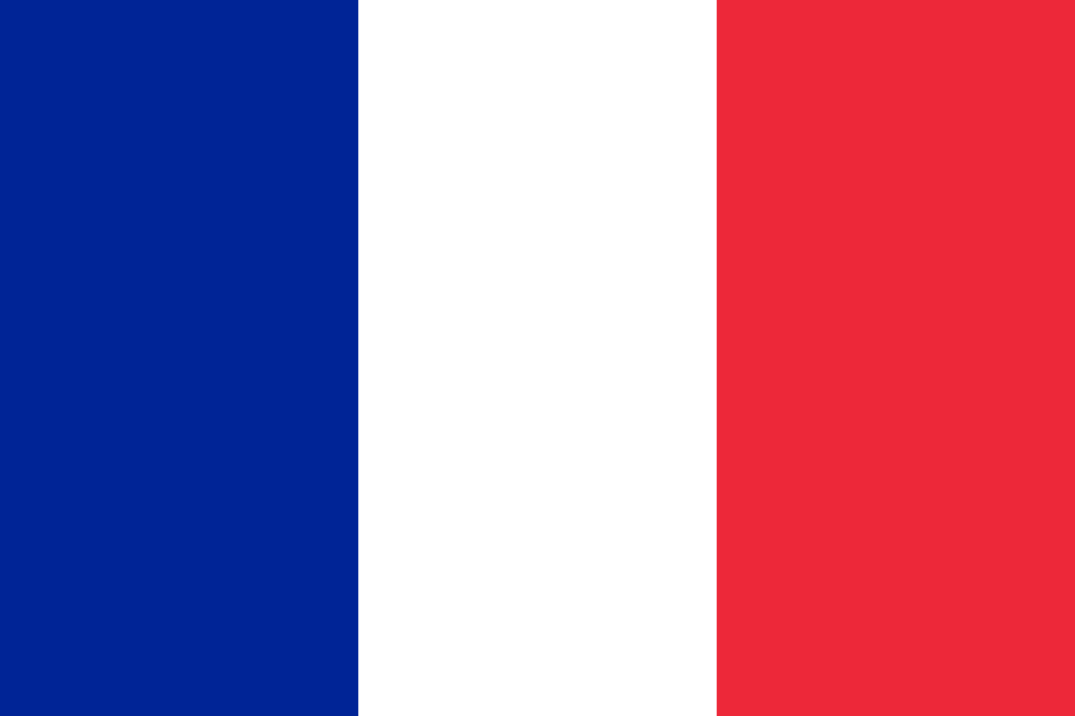 Official flag of overseas collectivities, region and department of France