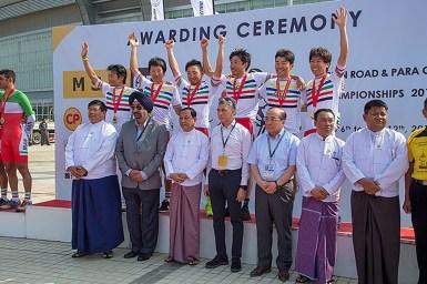 日本が男子チームTTで優勝・アジア選手権ロードレース2018