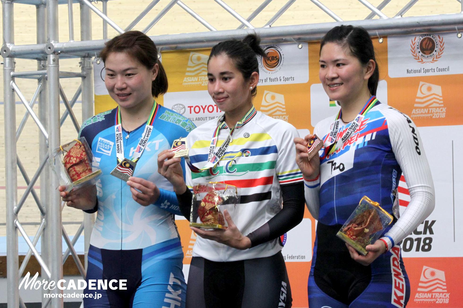 女子ポイントレース表彰式